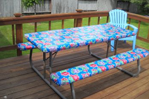 Get Your Custom Oil Cloth Tablecloth For Your Picnic Table