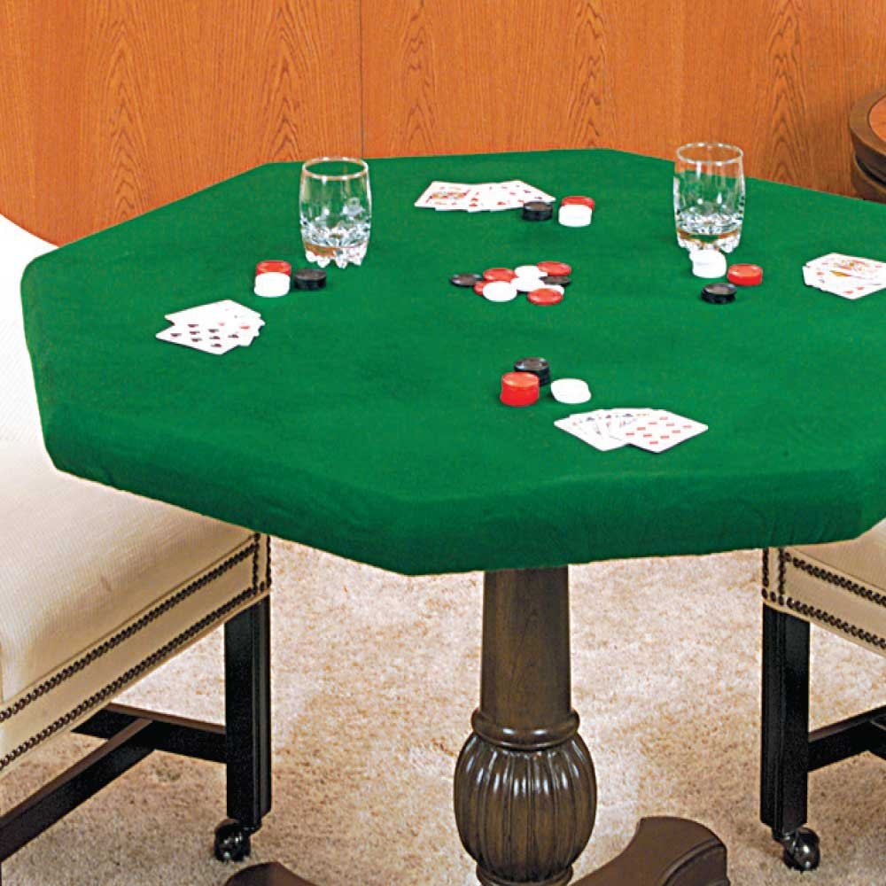 Green felt poker tablecloth cartable roulettes rip curl